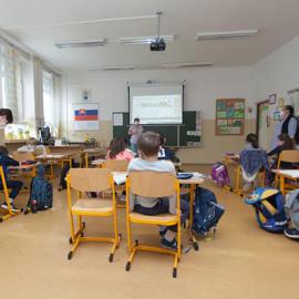 Vyučovanie v I.B triede, spolupráca učiteľ a asistent učiteľa