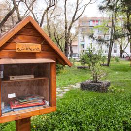 Čitateľské búdky-projekt podporený z Magistrátu hlavného mesta Bratislava