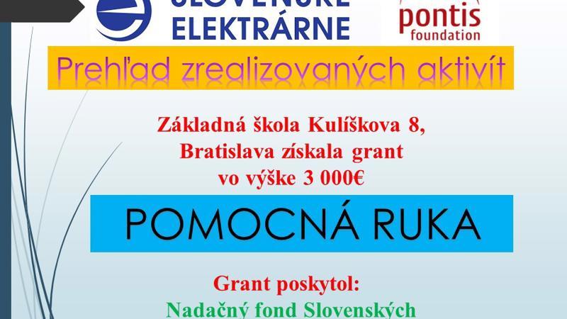 Projekt POMOCNÁ RUKA-aktivity