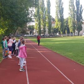 Štafeta na ZŠ Kulíškova v rámci Európskeho týždňa športu